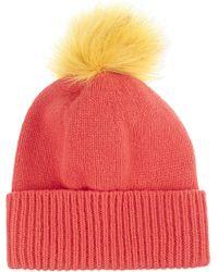 Helen Moore - Pompom Beanie Hat - For Women - Lyst