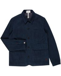 Paul Smith | Men's Indigo-dyed Cotton-twill Work Jacket | Lyst