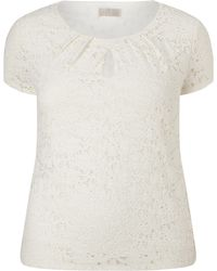 Windsmoor - Lace Keyhole Detail Top - Lyst
