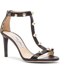Jimmy Choo | Lamba Cube Studded Leather Heels | Lyst