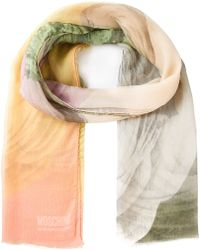 Moschino Cheap & Chic Rose Print Scarf - Lyst