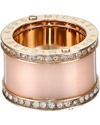Michael Kors Acetate Pave Barrel Ring pink - Lyst
