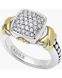 Lagos 'Diamond Lux' Pave Cushion Ring - Lyst