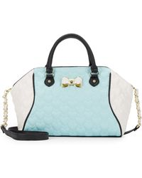 Betsey Johnson - Be My Bow Large Satchel - Lyst