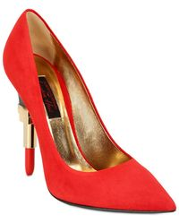 Alberto Guardiani 115Mm Lipstick Nubuck Pumps - Lyst
