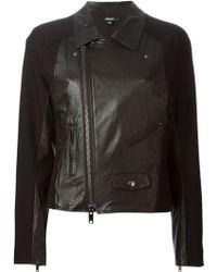 DKNY Moto Leather Jacket - Lyst