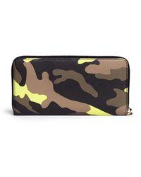 MICHAEL Michael Kors Jet Set Travel Camouflage Zip-around Continental Wallet - Lyst