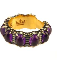 Queensbee - Bubbles Ring Big Amethyst - Lyst
