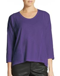 Eileen Fisher Organic Cotton Top - Lyst