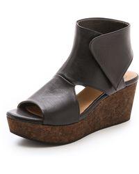 Coclico Mind Wedge Sandals - Black - Lyst