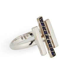 Pamela Love Axis Sterling Silver Ring - Lyst