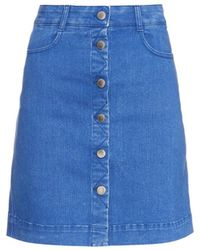 Stella McCartney Denim A-Line Mini Skirt - Lyst