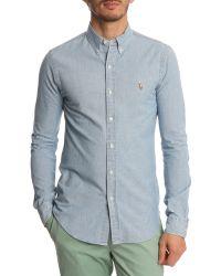 Polo Ralph Lauren Slim Fit Light Denim Shirt - Lyst