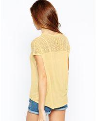 Warehouse - Mix Stitch Block T-Shirt - Lyst