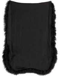 Simone Rocha Mesh Skirt With Marabou Feathers - Lyst