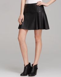 Twelfth Street by Cynthia Vincent Mini Skirt Faux Leather Pleated - Lyst