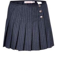 Chloé Striped Wool Miniskirt - Lyst