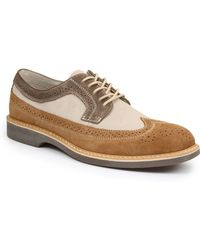 G.H. Bass & Co. Pearson Suede And Leather Wingtip Oxfords - Lyst