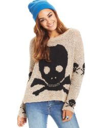 Material Girl - Juniors Graphic Boucle Sweater - Lyst
