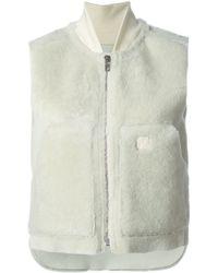 Rag & Bone Kangaroo Pockets Zipped Vest - Lyst
