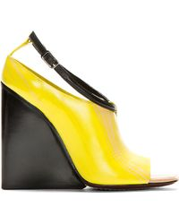 CoSTUME NATIONAL - Yellow Tapered Wedge Heels - Lyst