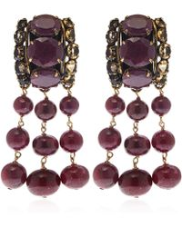 Iradj Moini - Red Ruby And Citrine Drop Earrings - Lyst