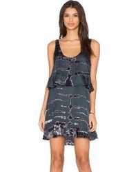 Gypsy 05 - V Neck Layered Mini Dress - Lyst