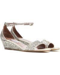 Tabitha Simmons Juniper Glitter Sandals - Lyst