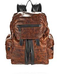 Alexander Wang | Marti Backpack In Distressed Sandstorm With Matte Black | Lyst