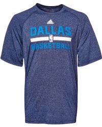 Adidas Mens Dallas Mavericks Climalite Practice T-shirt - Lyst