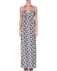 Heidi Klein Caicos Ruched Maxi Dress Prtcaicos - Lyst