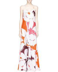 Diane von Furstenberg 'Barths' Floral Print Silk Maxi Dress - Lyst