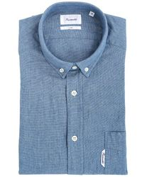 Faconnable Slim Fit Stretch Cotton Oxford Shirt - Lyst