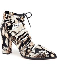 Loeffler Randall Reeve Lace-Up Bootie - Lyst
