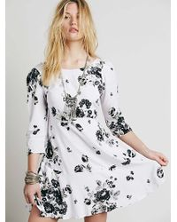 Free People Womens Eleanor Printed Mini - Lyst