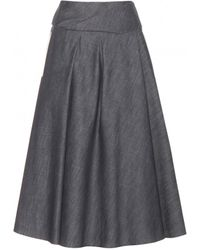 Bottega Veneta Denim Skirt - Lyst