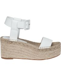Vince | Abby Leather Platform Wedges | Lyst