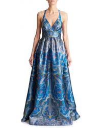 Temperley London Long Arazzi Strappy Dress blue - Lyst