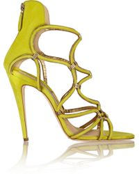 Brian Atwood Cleta Suede Sandals - Lyst