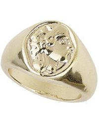 Topshop Freedom Found Engraved Pinky Ring - Lyst