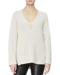 The Row Neck Detail Knit Sweater - Lyst