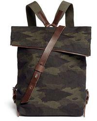 Seventy Eight Percent 'Jurgen' Camouflage Canvas Backpack - Lyst
