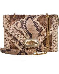 Marchesa Daphne Python Envelope Shoulder Bag - Lyst