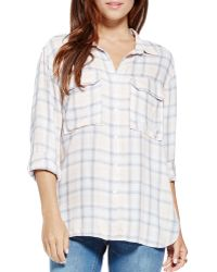 Two By Vince Camuto - Plaid Twill Shirt - Lyst
