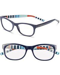 Kate Spade 51Mm Reading Glasses - Navy Stripe - Lyst