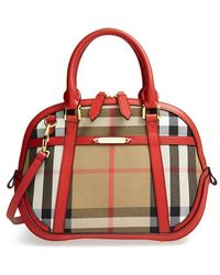 Burberry 'Small Orchard' House Check Satchel - Lyst