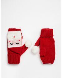 ASOS - Christmas Santa Knitted Palmwarmer - Lyst