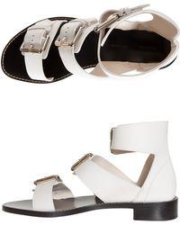 Proenza Schouler Three Buckle Flat Sandal - Lyst