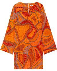 Issa Printed Silk Mini Dress - Lyst