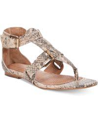 Corso Como - Sangria Gladiator Flat Thong Sandals - Lyst